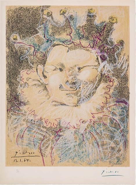 Pablo Picasso, 'Tête De Bouffon', 1964, Print, Color lithograph, on Rives BFK paper, Doyle