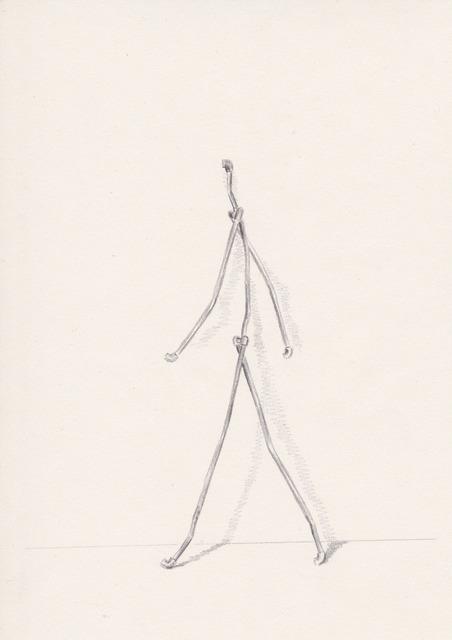 German Portal, 'Figura caminando', 2015, Galería silvestre