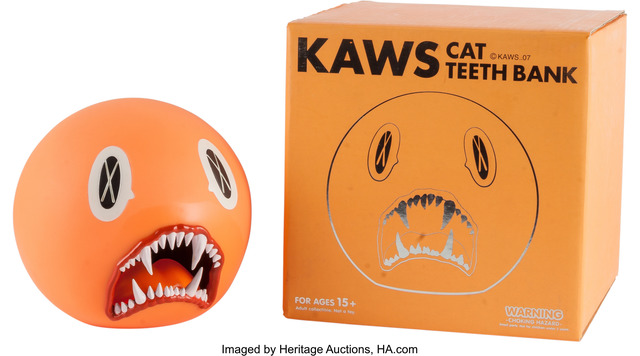 KAWS, 'Cat Teeth Bank (Orange)', Other, Heritage Auctions