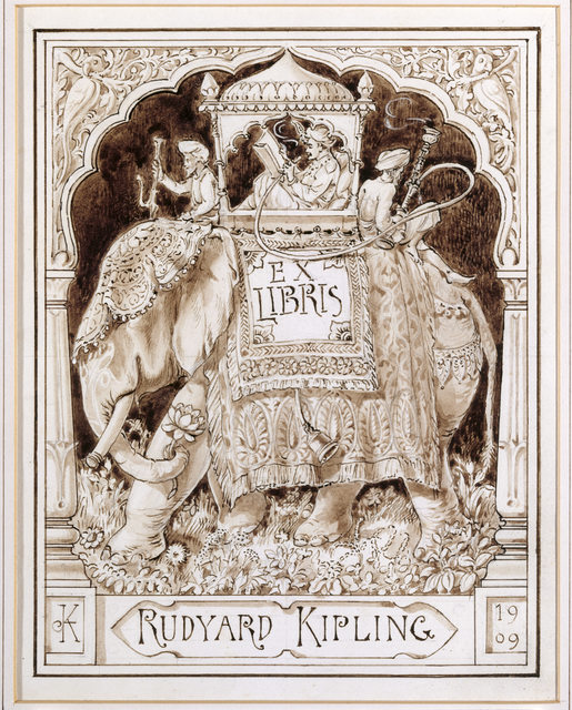 , 'A design for Rudyard Kipling's bookplate,' 1909, Bard Graduate Center Gallery