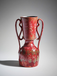 Tall two-handled vase