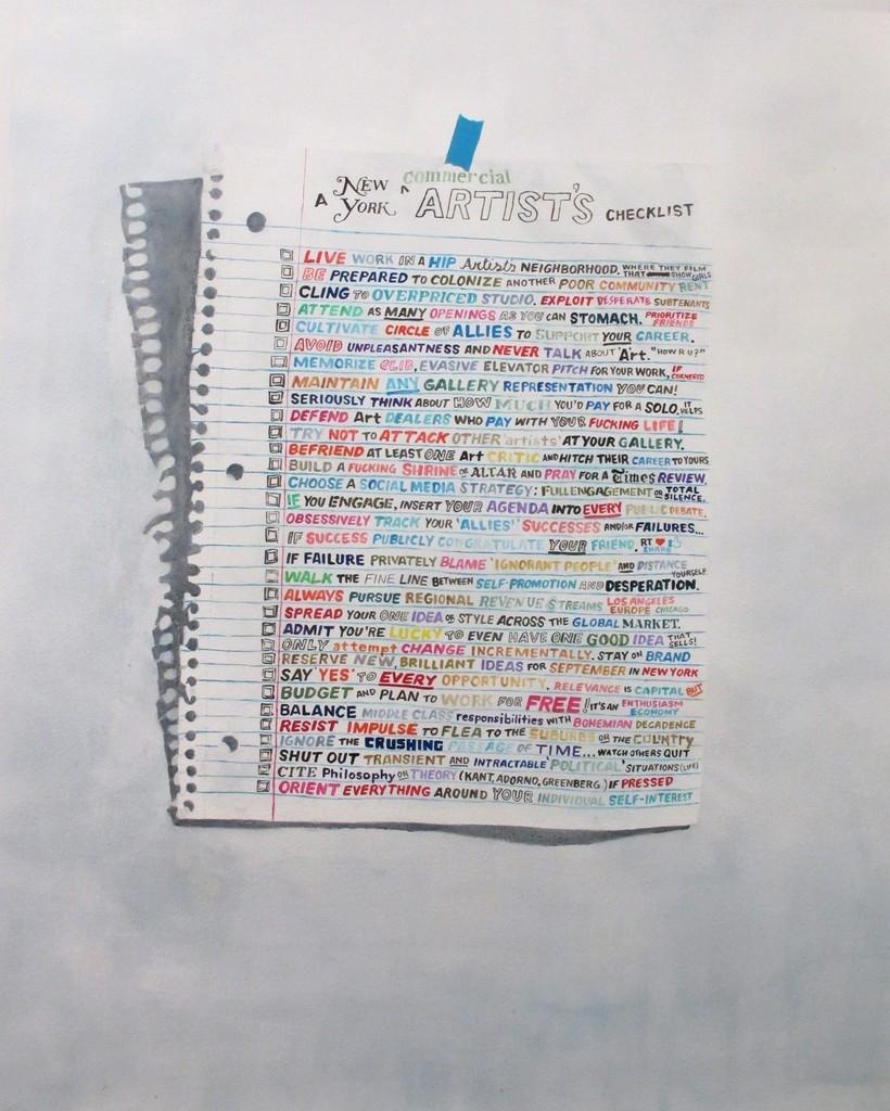 A New York Artist's Checklist