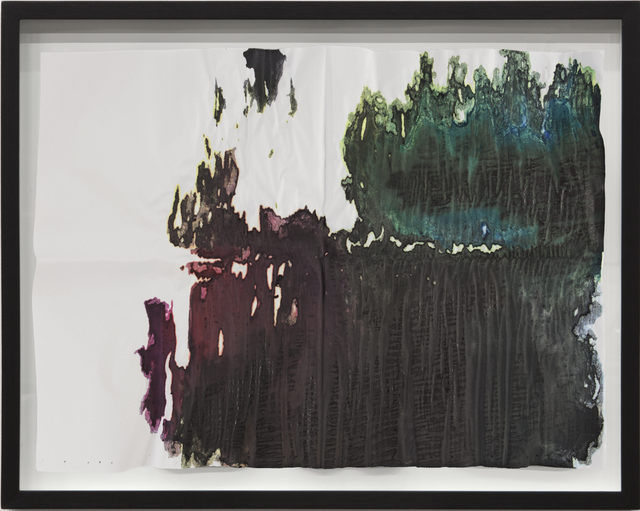 Latifa Echakhch, 'And we want to be a good partner in that process, recognizing that ultimately it will be up to its law enforcement to carry out the decisions that need to be made', 2015, Drawing, Collage or other Work on Paper, Ink on 52 grams blank newspaper, Swiss Institute Benefit Auction