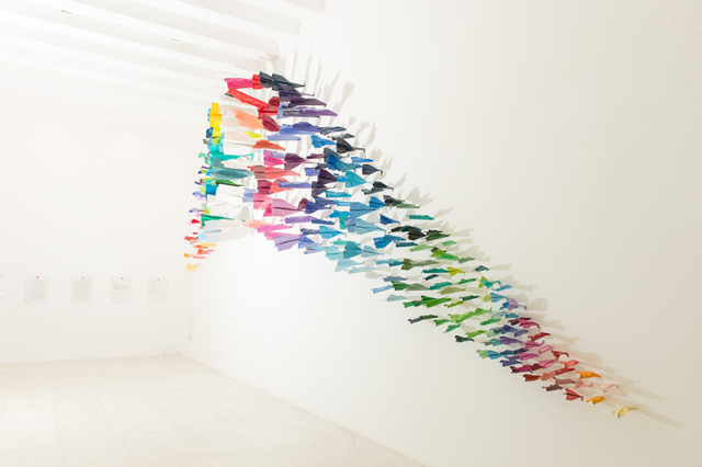 , 'planes installation,' 2014, Galleria Ca' d'Oro