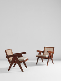 "Pair of ""Easy"" armchairs, model no. PJ-SI-29-A, designed for the administrative buildings, Chandigarh"