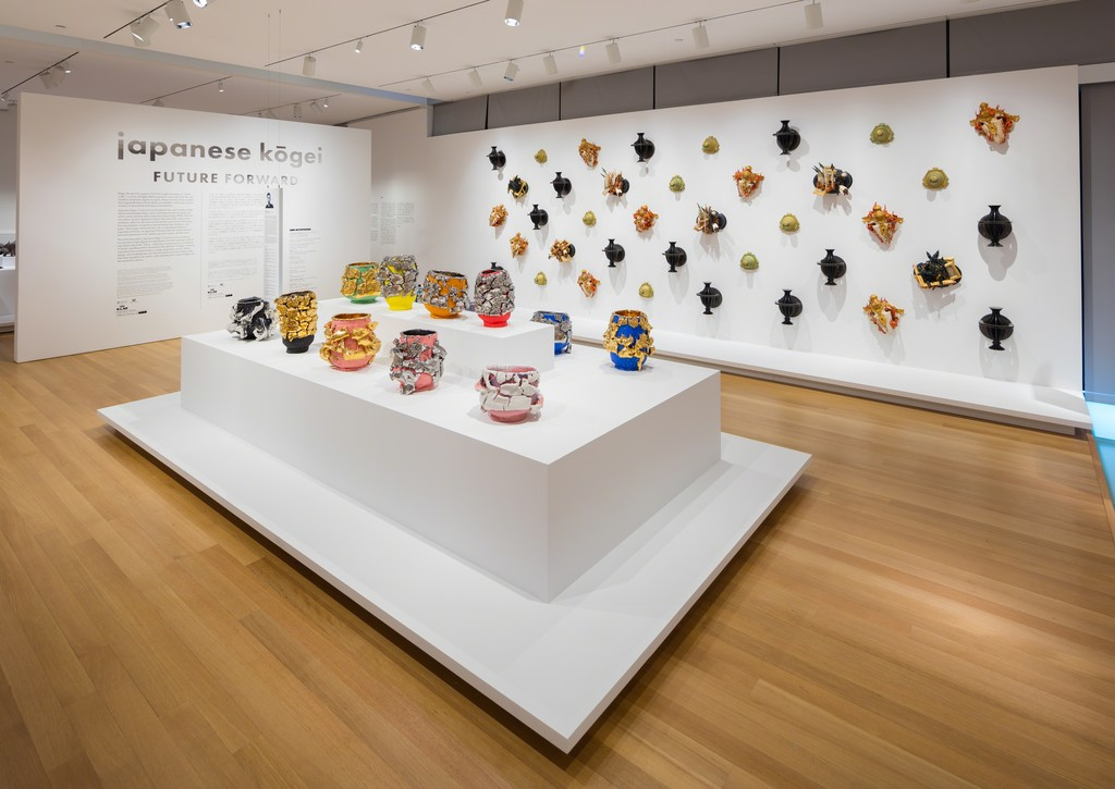 Installation view of 'Japanese Kōgei   Future Forward,' 2015. Photo by Butcher Walsh . Courtesy of the Museum of Arts and Design.