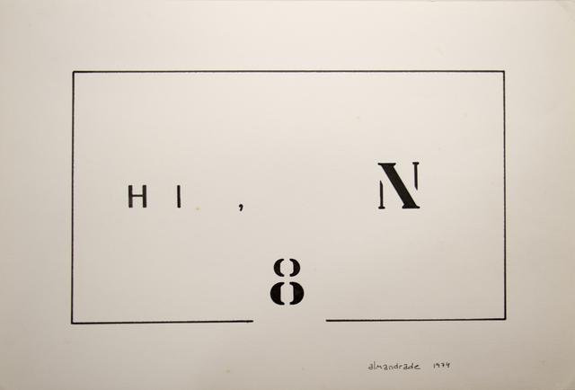 , 'Visual Poem,' 1974, Galeria Karla Osorio