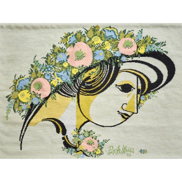 "Bjørn Wiinblad, 'Wall-Hanging Tapestry, ""Mima's Summerhat"", Portugal', 1976, Rago"
