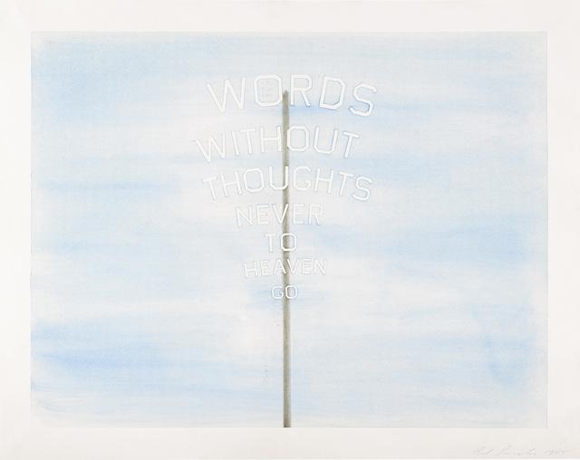 Ed Ruscha, 'Words #2', 1985, Phillips