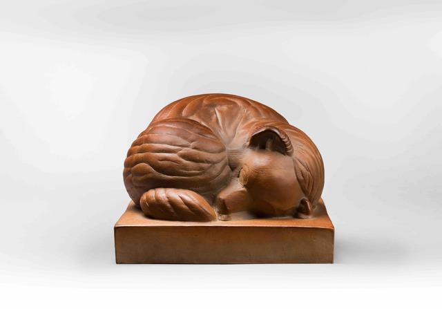 Sèvres Porcelain Manufactory, 'Lying Fox', 1925, Galerie Dumonteil