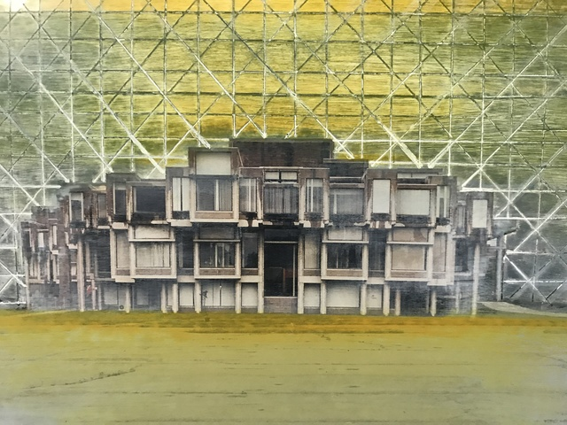 , 'OCGC Show Card, yellow, green, grey,' , Front Room Gallery