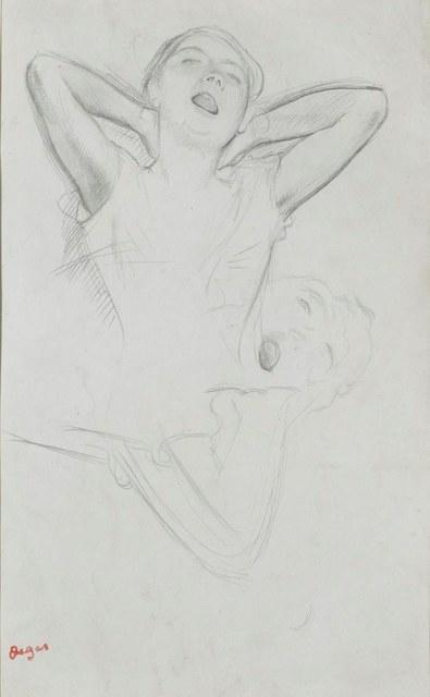 , 'Études de danseuse, for Répétitión d'un ballet sur la scène (recto and verso),' ca. 1874, DICKINSON