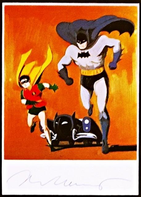 Mel Ramos, 'Batman, Robin and Bat Mobile, Hand signed (from the Estate of UACC President Cordelia Platt)', ca. 1991, Alpha 137 Gallery