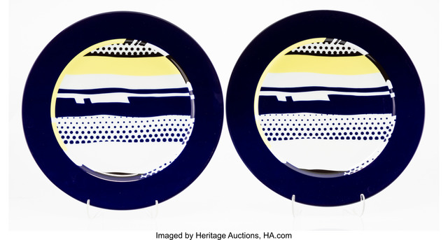 Roy Lichtenstein, 'Untitled, set of two plates', c. 1990, Heritage Auctions