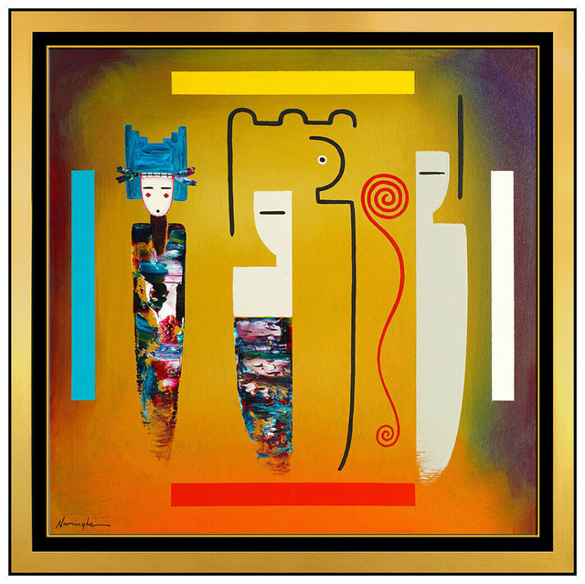 Dan Namingha, 'Passage & Symbolish ', 2000, Painting, Acrylic Paint on Canvas, Original Art Broker