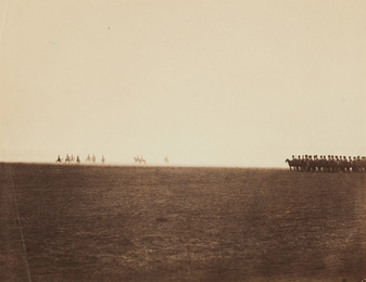 Gustave Le Gray, 'Cavalry Maneuvres, Camp de Châlons,' 1857, Phillips: The Odyssey of Collecting