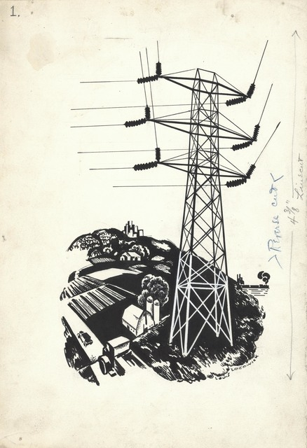 Louis Lozowick, 'The High Wires. (Untitled.)', ca. 1930, The Old Print Shop, Inc.