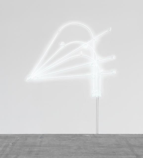 Andrea Galvani, 'Study on Gravity', 2018, Installation, Neon 6500K, white blown glass, Eduardo Secci Contemporary