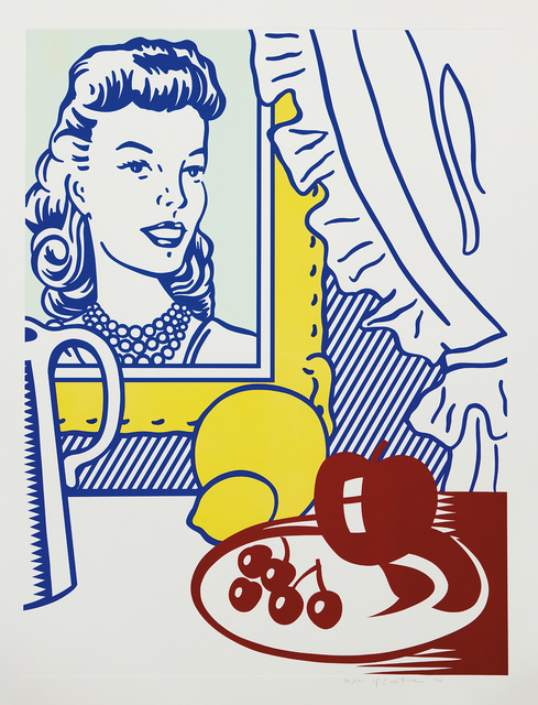 Roy Lichtenstein, 'Still Life with Portrait, from Six Still Lifes Series', 1974, Print, Lithograph and screenprint in colors with debossing, on Rives BFK paper, with full margins., Phillips
