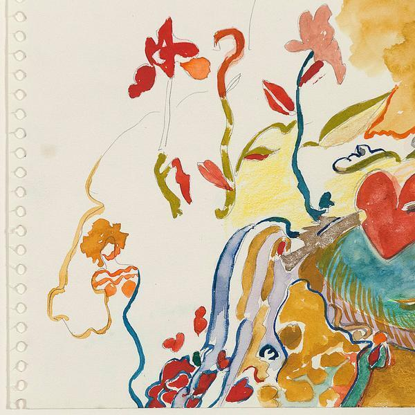 Joyce Wieland, 'Magic Landscape', ca. 1980, Drawing, Collage or other Work on Paper, Watercolor and pencil (verso) on paper, Caviar20