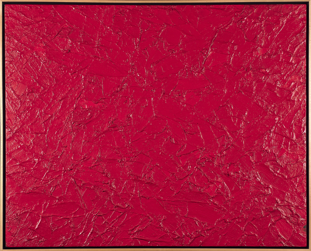 James Hayward, 'Spartan Red', 1985, Painting, Oil on canvas laid to board (framed), Rago/Wright