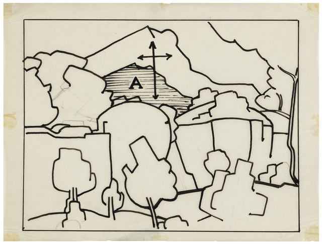 , 'Diagram of a Cézanne painting,' ca. 1942, Temporary Gallery