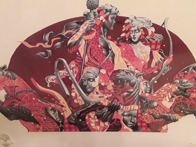 Tristan Eaton, 'Berns Steakhouse Street Art Graffiti Mural Print Signed Cass Wine', 2016, End to End Gallery