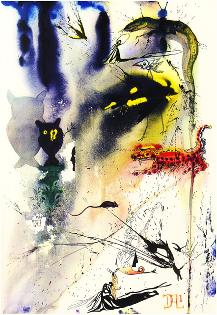 Salvador Dalí, 'A caucus Race and a long Tale', 1969, Drawing, Collage or other Work on Paper, Heliogravure, Dali Paris