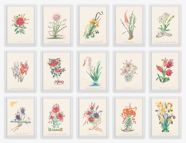 Salvador Dalí, 'Florals (Surrealist Flowers)', 1972, Print, Lithographs in colors with embossing on heavy Arches paper, Heritage Auctions