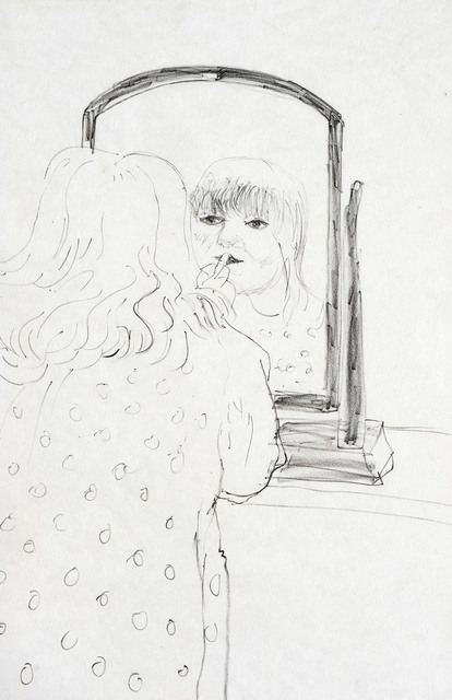 , 'Ann Putting on lipstick Signed by David Hockney,' 1979, A Bigger Gallery
