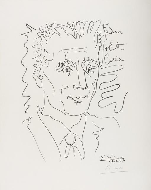 Pablo Picasso, 'Portrait of Frederic Joliot-Curie', 1959, Print, Lithograph, Forum Auctions