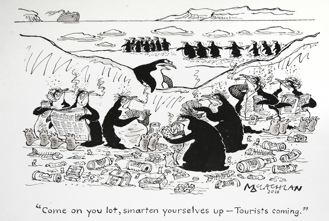 , 'Come on you lot, smarten yourselves up – tourists coming ,' 2018, Chris Beetles Gallery