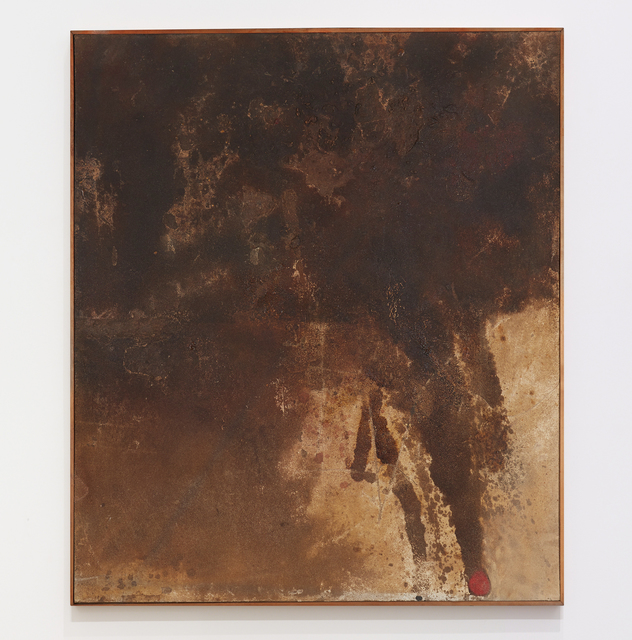 Robert Mallary, 'The Warrior', 1957-1958, Painting, Resin and sand mix on particulate board with artist made wooden frame, The Mayor Gallery