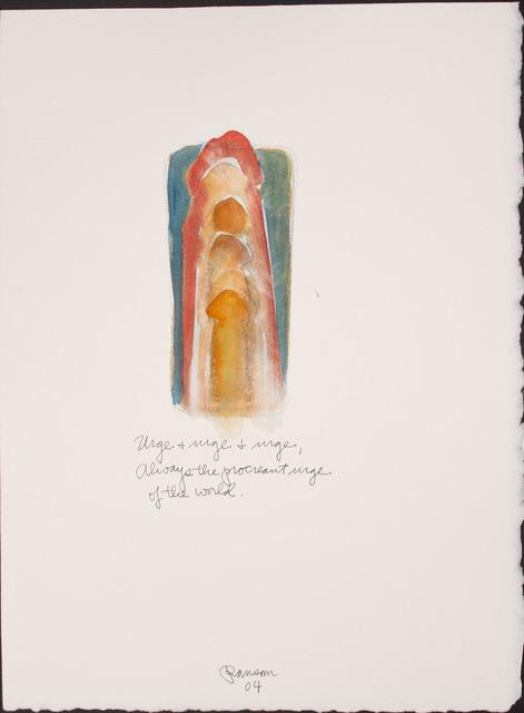 John Ransom Phillips, 'Urge, and urge, and urge...', 2004, BlackBook Presents