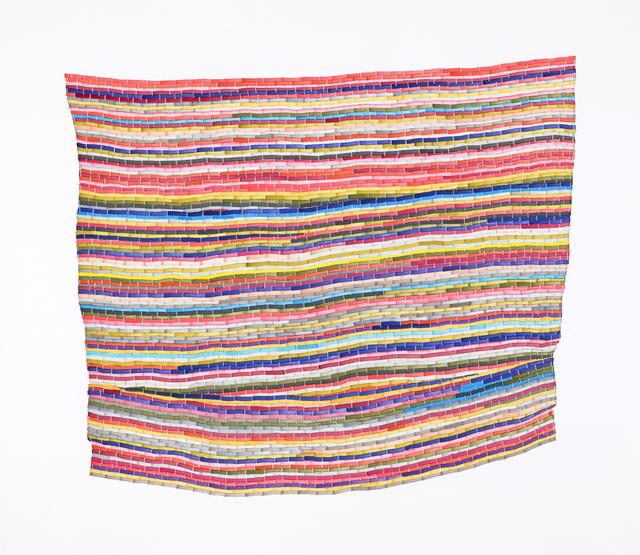 , 'Pink Multi Rag Rug,' 2017, Morgan Lehman Gallery
