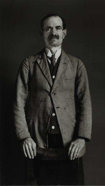 "August Sander, 'Leader of a Splinter Party [Dr. Braun, ""German Federation of Intellectual Innovators""], 1931', Galerie Julian Sander"