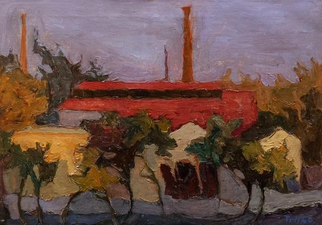 Toti Scialoja, 'The factory', 1946, Painting, Oil on canvas, Finarte