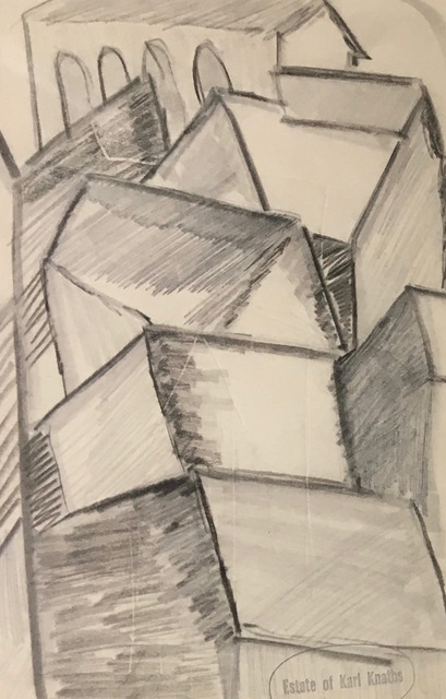 Karl Knaths, 'Rooftops', Early 20th century, Bakker Gallery