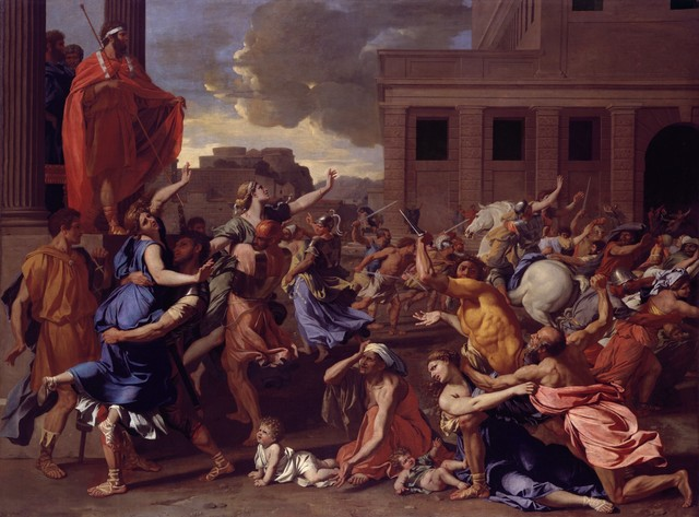 Nicolas Poussin, 'The Abduction of the Sabine Women', 1633–1634, The Metropolitan Museum of Art