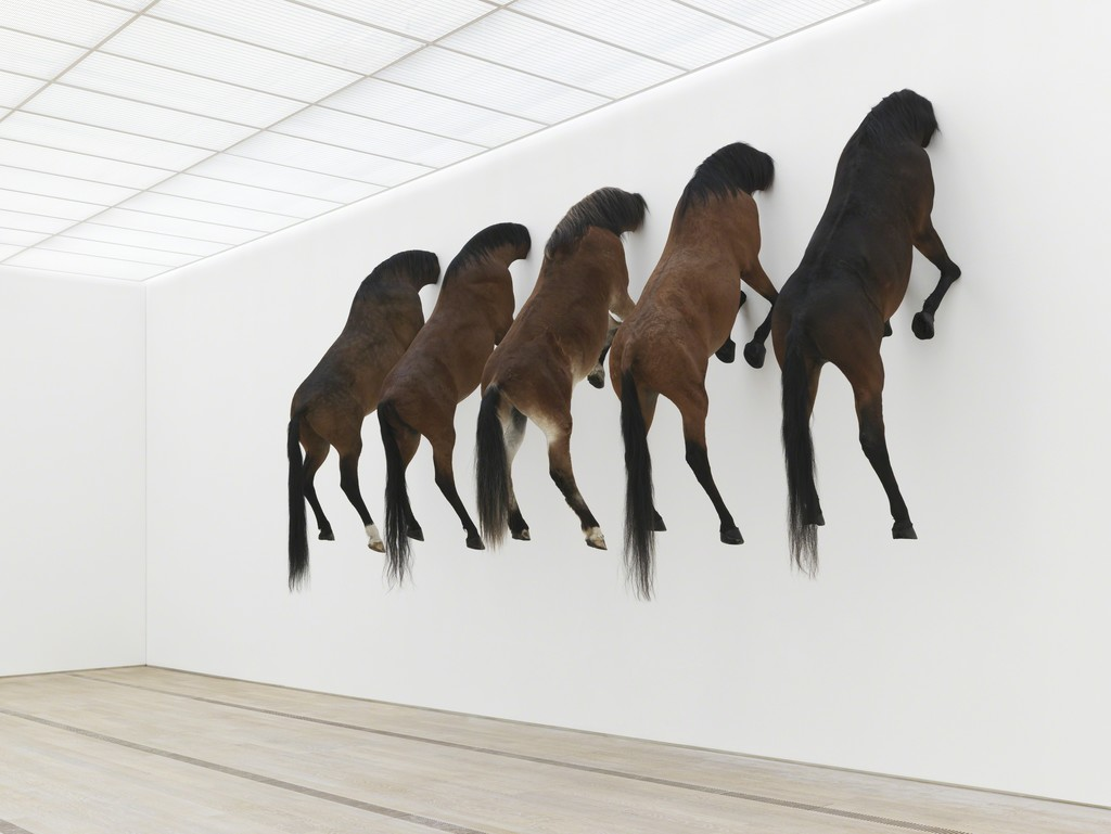 Maurizio Cattelan, 'View of the exhibition KAPUTT,' 2013, Fondation Beyeler