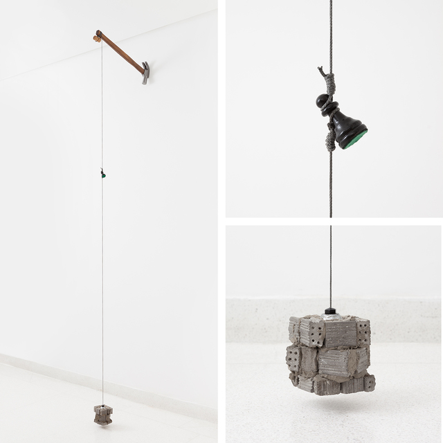 , 'Tentativa:Desaprumo (escala cinza),' 2016/17, Carbono Galeria