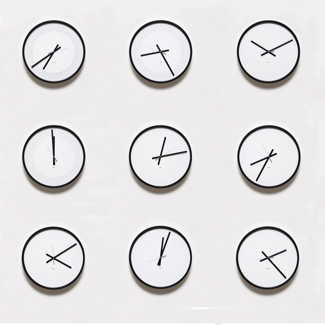 Katie Paterson, 'Timepieces (Solar System)', 2014, Installation, Nine adapted clocks telling the time on all the planets in our solar system, Parafin