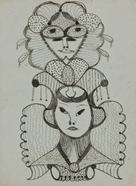 , 'Untitled (Faces) ,' ca. 1946, ZQ Art Gallery