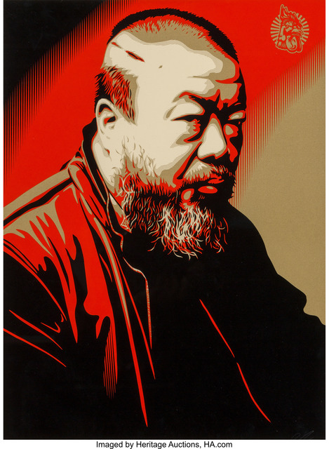Shepard Fairey (OBEY), 'Portrait of Ai Weiwei', 2014, Heritage Auctions