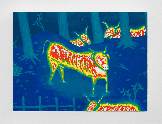 , 'Infrared Bulls,' 2014, Upfor