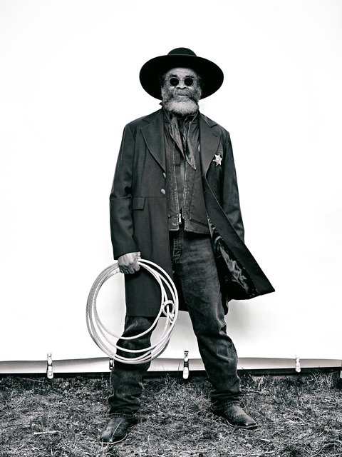 ", 'Ellis ""Mountain Man"" Harris from ""The Federation of Black Cowboys"" series for The Village Voice,' 2016, The Studio Museum in Harlem"