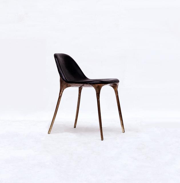 Valentin Loellmann, 'Brass Black Chair ', 2019, Twenty First Gallery