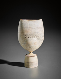 'Cycladic' pot with spherical volume and oval lip
