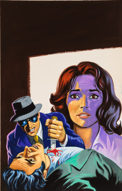 'Untitled (Woman with zombies)', c. 1960-75, Painting, Tempera on illustration board, Ricco/Maresca Gallery