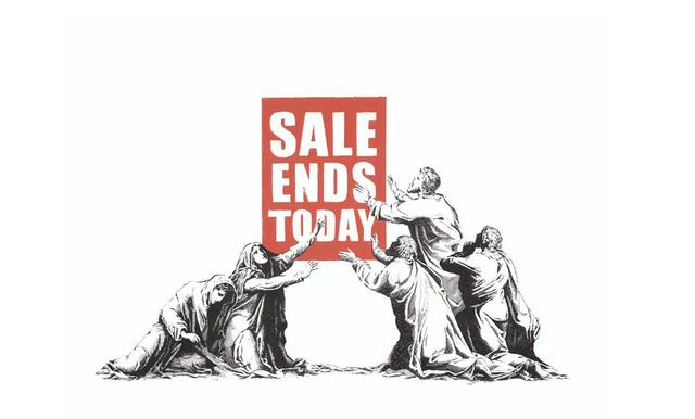 Banksy, 'Sale Ends - Signed', 2017, Hang-Up Gallery